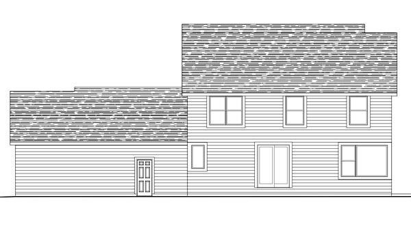 House Plan 42627 Rear Elevation