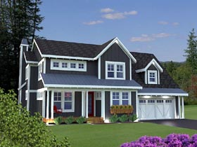 House Plan 42628 Elevation