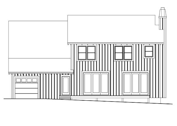House Plan 42628 Rear Elevation