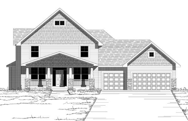 House Plan 42629 with 4 Beds, 3 Baths, 3 Car Garage Picture 1