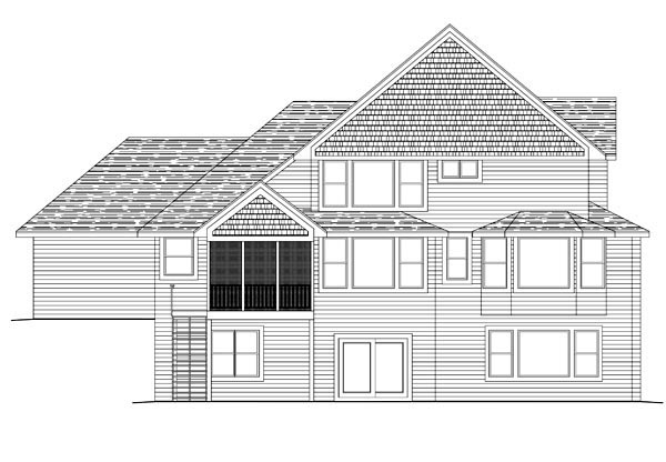 House Plan 42629 Rear Elevation