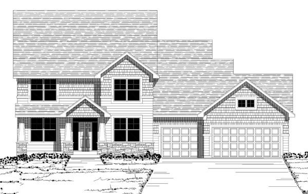 House Plan 42631 with 4 Beds, 3 Baths, 3 Car Garage Picture 1