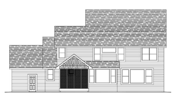 House Plan 42631 Rear Elevation