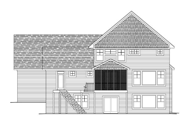House Plan 42636 Rear Elevation
