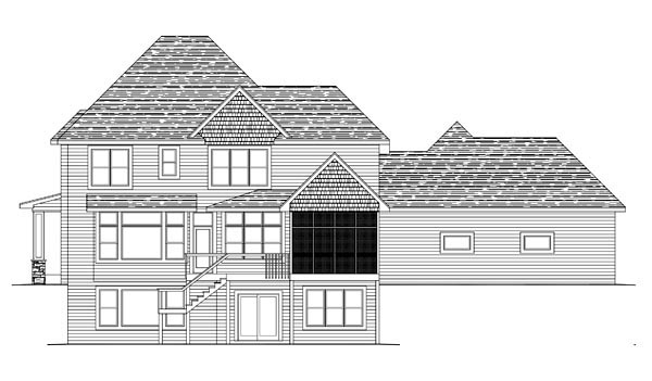House Plan 42637 Rear Elevation