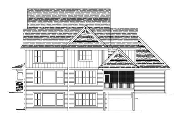 House Plan 42639 Rear Elevation