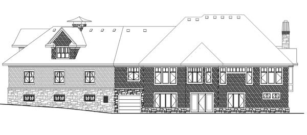 House Plan 42641 Rear Elevation