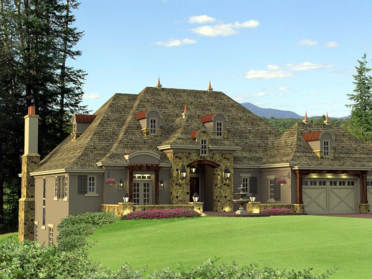 House Plan 42645 Elevation