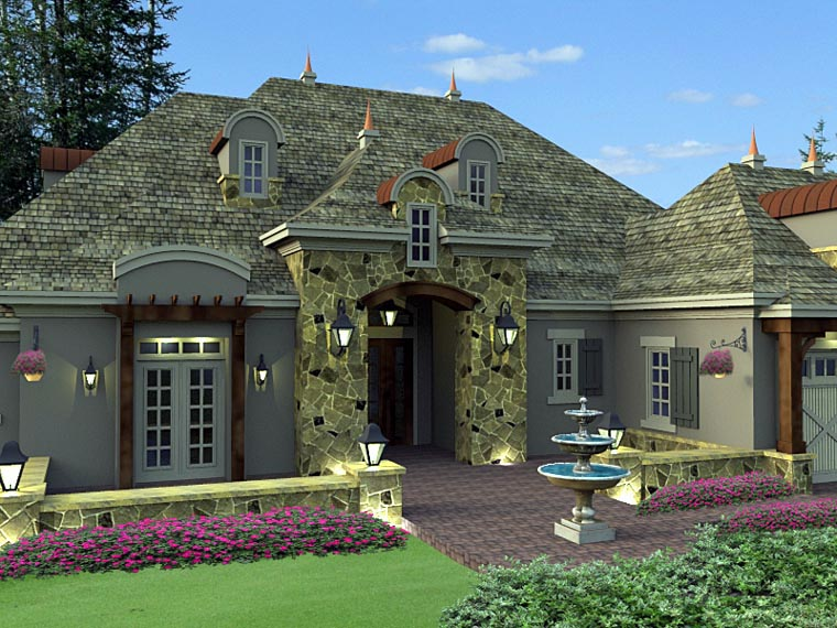 House Plan 42645 with 2 Beds, 3 Baths, 3 Car Garage Picture 1