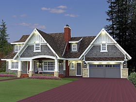 Cottage Craftsman French Country House Plan 42646 Elevation