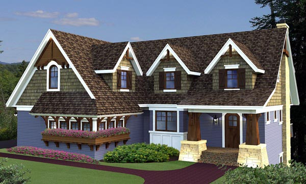 House Plan 42647 Elevation