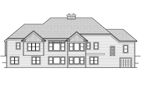 Rear Elevation of Plan 42648