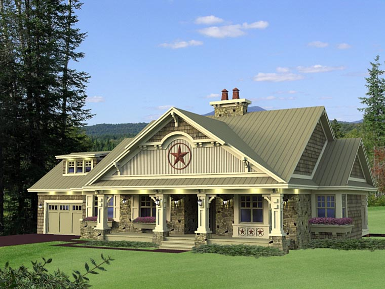 Craftsman European House Plan 42650 Elevation