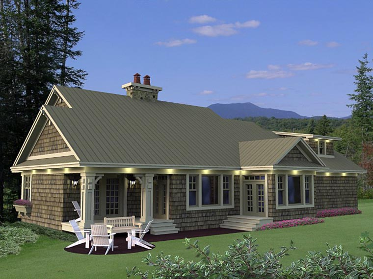 Craftsman European House Plan 42650 Rear Elevation