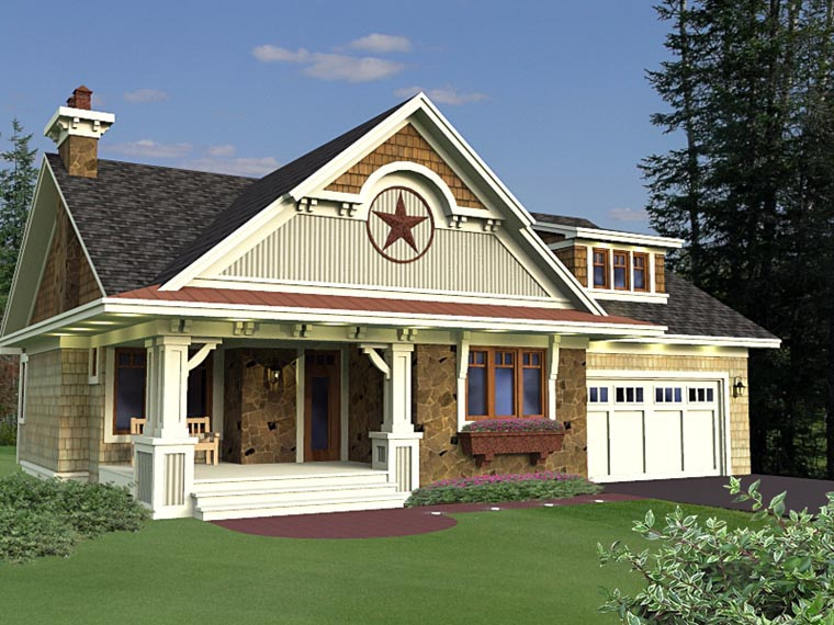 Craftsman European House Plan 42651 Elevation