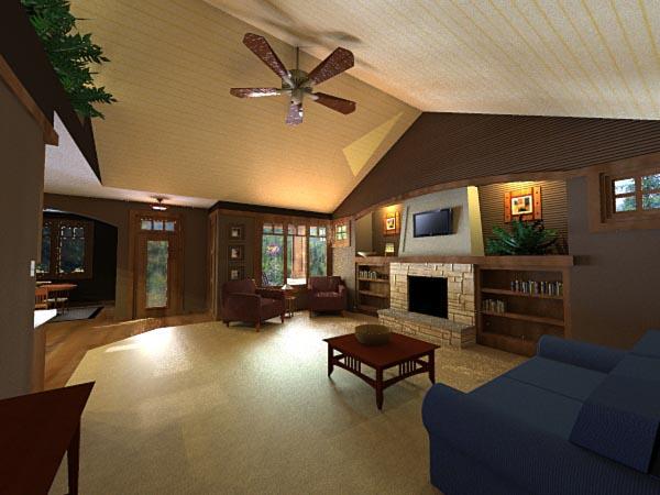 Craftsman, European House Plan 42651 with 3 Beds, 2 Baths, 2 Car Garage Picture 1