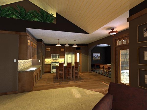 Craftsman, European House Plan 42651 with 3 Beds, 2 Baths, 2 Car Garage Picture 2