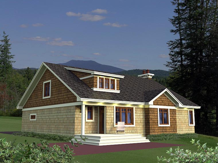 Craftsman European House Plan 42651 Rear Elevation