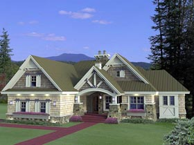 Craftsman House Plan 42652 Elevation