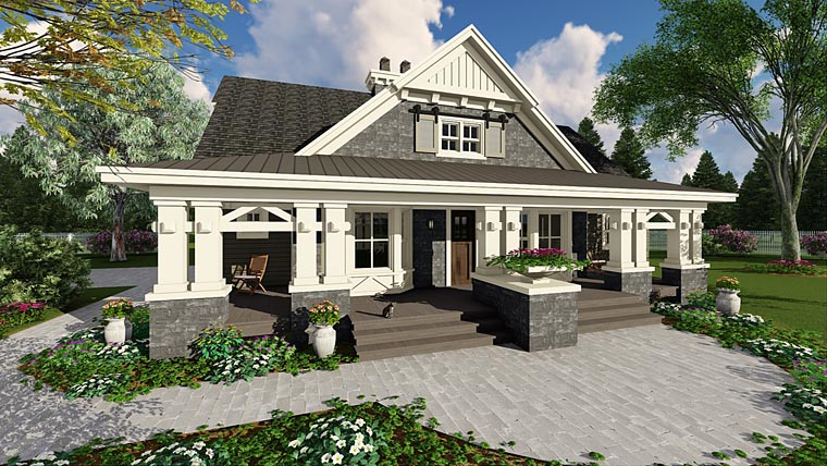 Craftsman House Plan 42653 Elevation