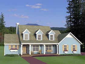 House Plan 42654 with 4 Beds, 3 Baths, 3 Car Garage Elevation