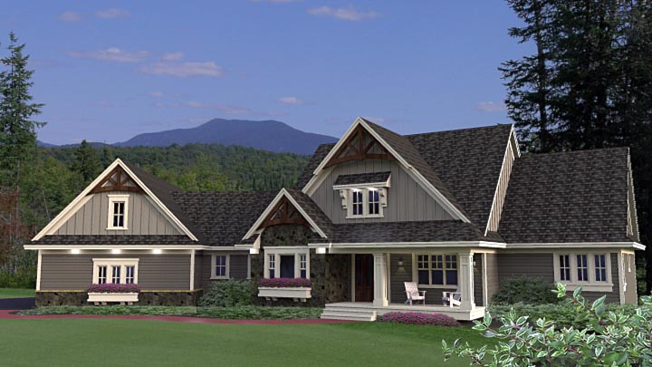 House Plan 42655 with 2 Beds, 2 Baths, 4 Car Garage Elevation