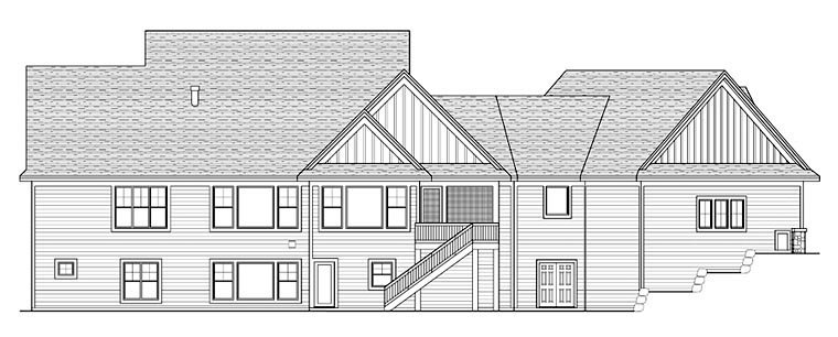 House Plan 42655 Rear Elevation