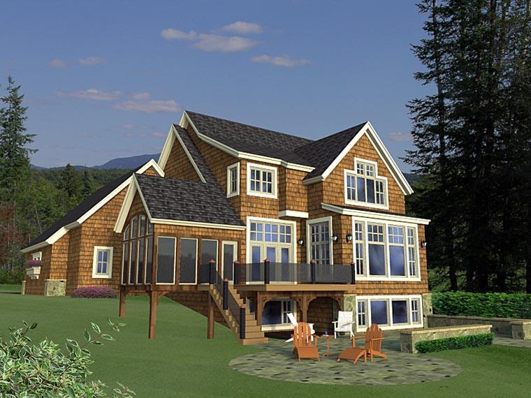 House Plan 42656 Rear Elevation