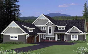 House Plan 42657 with 4 Beds, 4 Baths, 3 Car Garage Elevation
