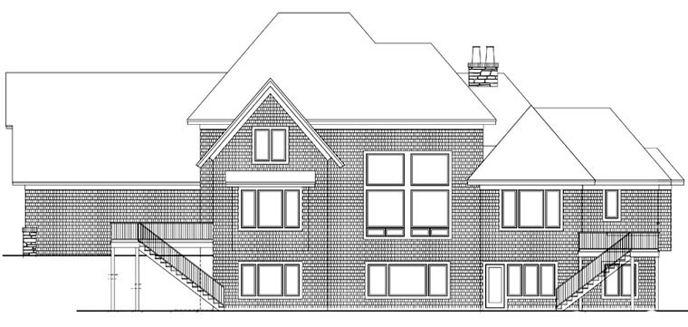 House Plan 42659 Rear Elevation