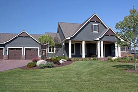 House Plan 42662 with 4 Beds, 3 Baths, 3 Car Garage Elevation