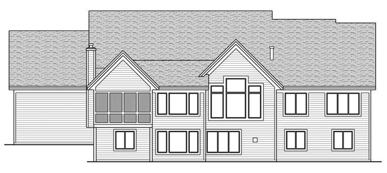 House Plan 42663 Rear Elevation