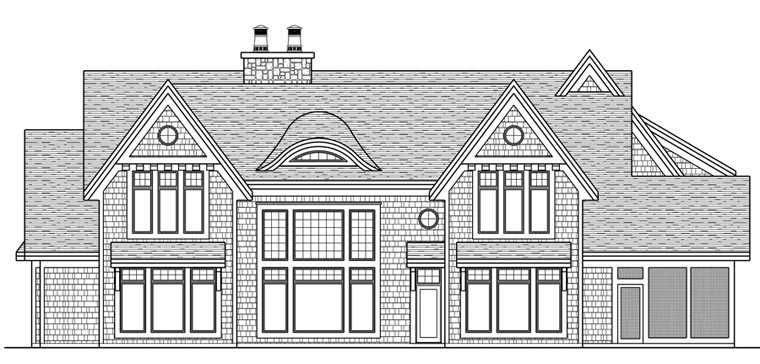 House Plan 42665 Rear Elevation