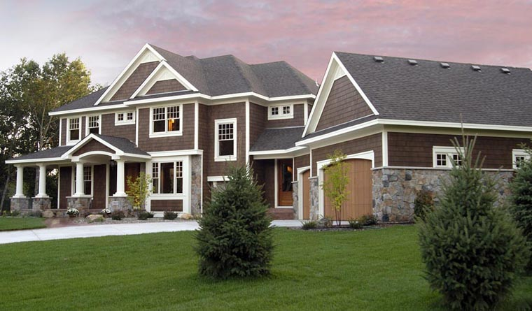 House Plan 42667 with 4 Beds, 4 Baths, 3 Car Garage Elevation