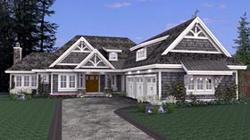 House Plan 42668 Elevation