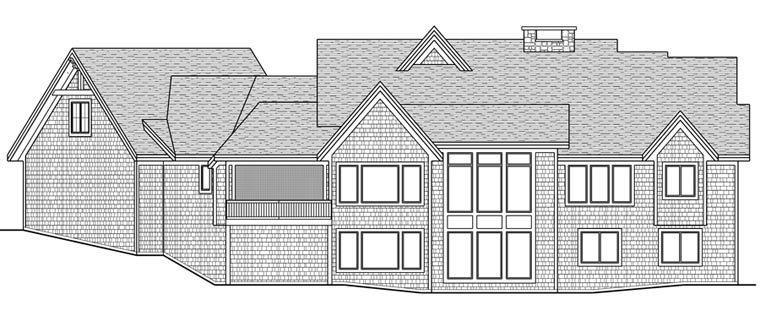 House Plan 42671 with 3 Beds, 3 Baths, 3 Car Garage Rear Elevation