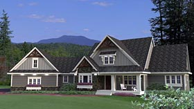 House Plan 42672 with 4 Beds, 4 Baths, 4 Car Garage Elevation
