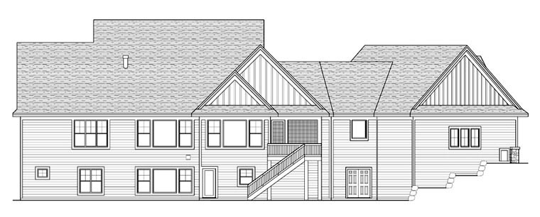 House Plan 42672 Rear Elevation