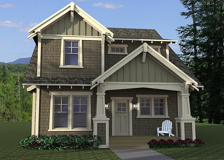 Cottage Craftsman Traditional House Plan 42673 Elevation