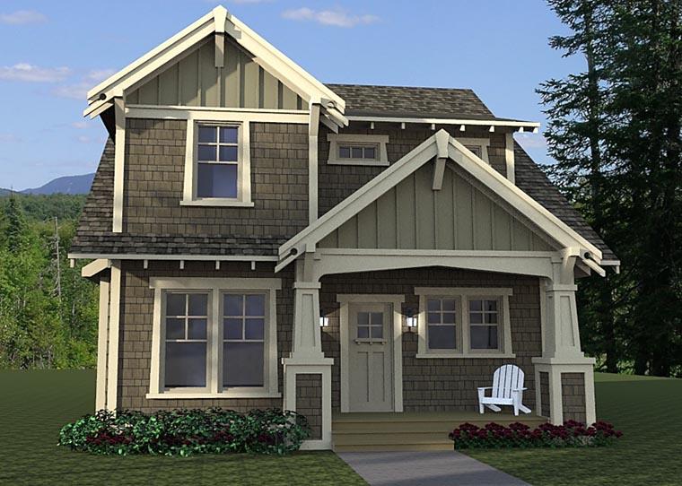Cottage Craftsman Traditional House Plan 42673 Elevation