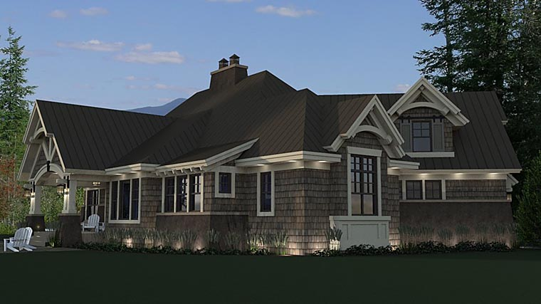 Bungalow Cottage Craftsman Tudor House Plan 42675