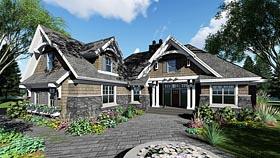 Bungalow , Cottage , Craftsman , Tudor House Plan 42677 with 4 Beds, 3 Baths, 2 Car Garage Elevation