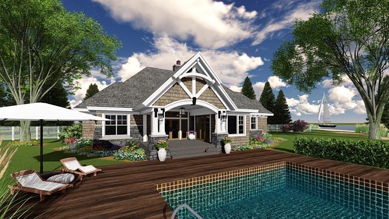 Bungalow Cottage Craftsman Tudor House Plan 42677