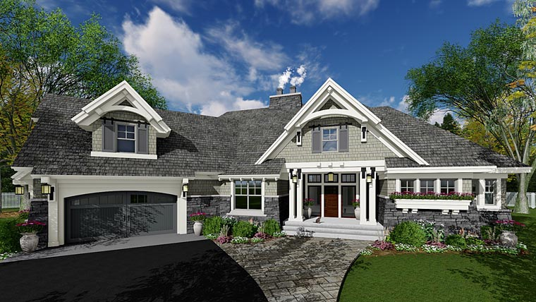 Cottage Craftsman Tudor House Plan 42678 Elevation