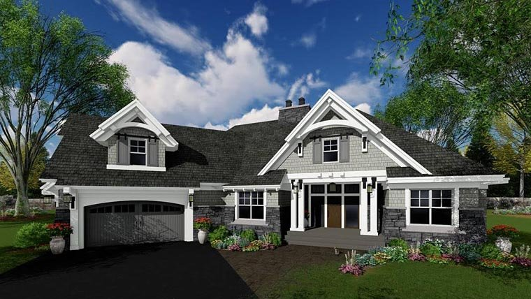 cottage craftsman french country tudor house plan 42679
