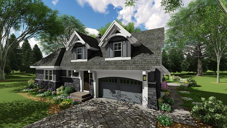 Bungalow, Cottage, Country, Craftsman, Tudor House Plan 42680 with 3 Beds, 3 Baths, 2 Car Garage Picture 2