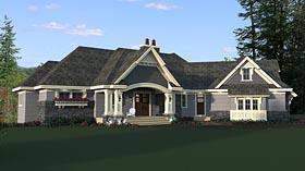 Bungalow , Craftsman , European House Plan 42681 with 4 Beds, 4 Baths, 4 Car Garage Elevation