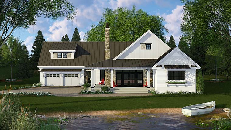 Country, Farmhouse, French Country, Traditional House Plan 42682 with 3 Beds, 3 Baths, 2 Car Garage Picture 1