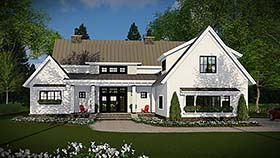 House Plan 42683 | Country Farmhouse Traditional Style Plan with 2528 Sq Ft, 4 Bed, 3 Bath, 3 Car Garage Elevation