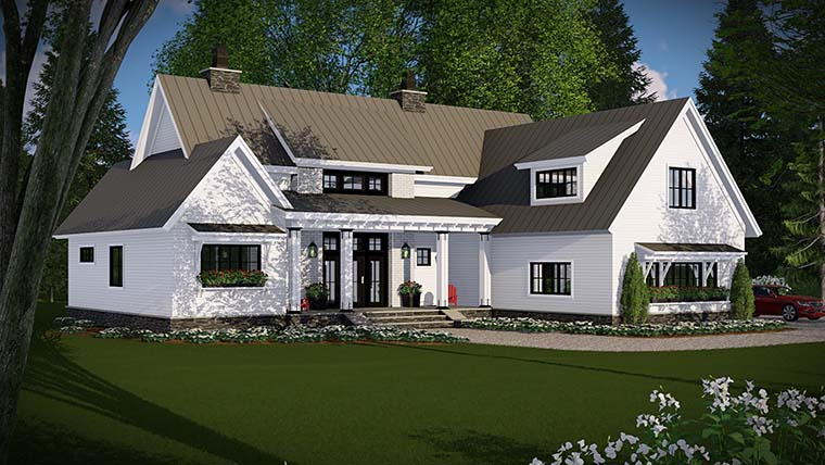 Country, Farmhouse, Traditional House Plan 42683 with 4 Beds, 3 Baths, 3 Car Garage Picture 1
